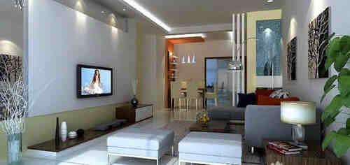 客厅时尚简装效果图欣赏 让您的客厅装修简单却