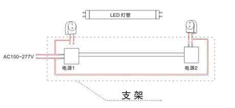 led日光灯接线方法 led日光灯接线图