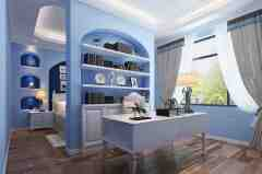 美式书房装修效果图 恋上自然舒适的田园书香