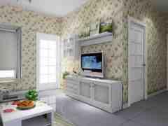 2015最新韩式风格电视背景墙装修效果图欣赏