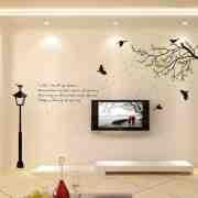 客厅电视背景墙墙贴图片 客厅电视背景墙壁纸效