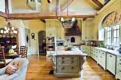 田园风格厨房装修效果图 营造清新自然家居生活