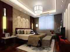 新中式风格卧室装修效果图 庄重优雅品味中式含