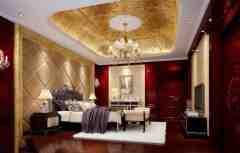 豪华卧室装修效果图 土豪们最爱的高大上范儿