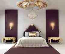 欧式风格卧室装修效果图 典雅不失明媚的卧室风