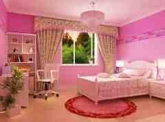 粉色儿童房装修效果图 甜美可爱公主房设计
