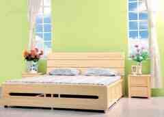 怡然之家松木家具 卧室系列 实木床图片欣赏