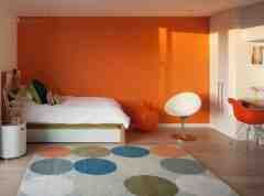 橙色系卧室设计效果图大全欣赏