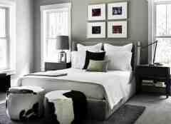 浅灰色卧室装修图片大全欣赏