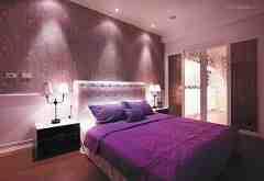 10款紫色调卧室装修效果图 高贵神秘的典范