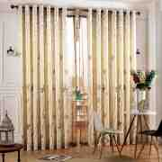 书房窗帘装修效果图 简洁明快清新优雅