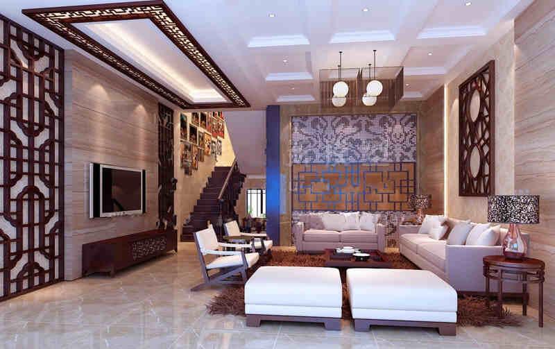 客厅地砖瓷砖铺贴装修效果图
