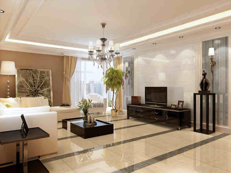 客厅地砖瓷砖铺贴装修效果图 为你打造最靓丽的(9)