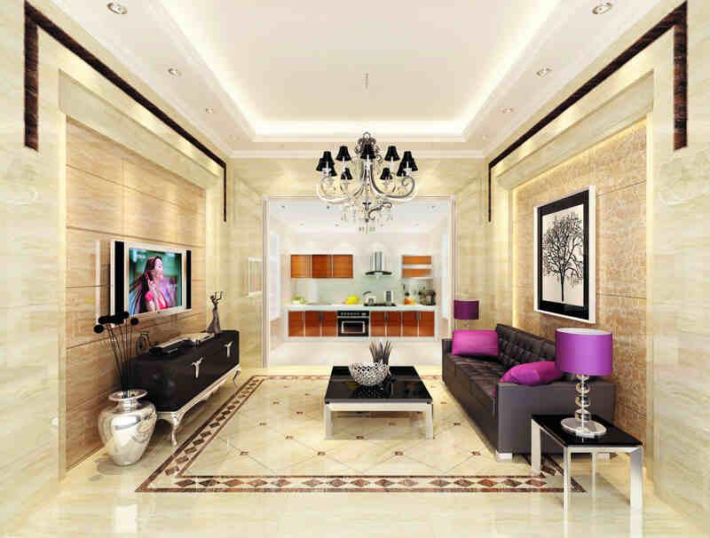 客厅地砖瓷砖铺贴装修效果图 为你打造最靓丽的 10
